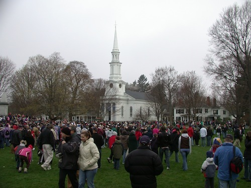 On Lexington Green immediately after the Patriots' Day reenactment