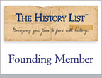 Historic events, sites, exhibits, programs, reenactments and more are on The History List