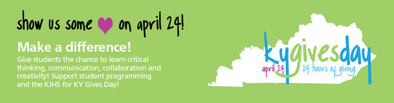 Support KJHS on KY Gives Day!