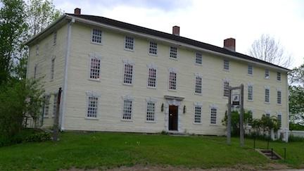 Rider Tavern, home of the Charlton Historical Society in Charlton, Massachusetts