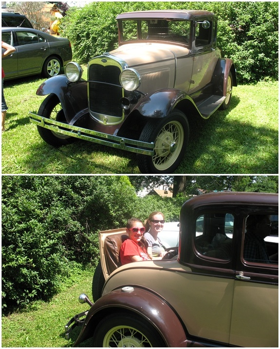 A great day for a ride in a rumble seat