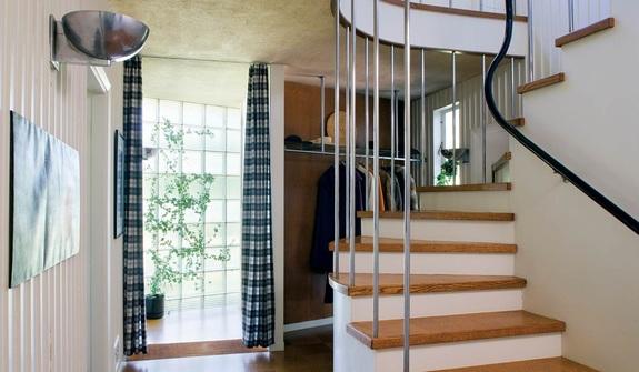 First floor hallway of Gropius House in Lincoln, Massachusetts