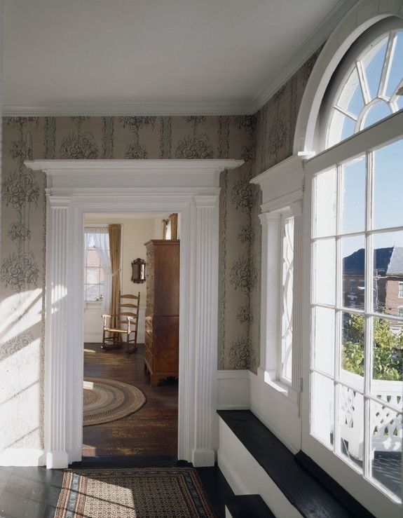 Upstairs hallway of Nickels-Sortwell House in Wiscasset, Maine