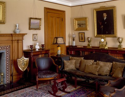 The Library of Codman Estate in Lincoln, Massachusetts