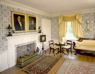 The Parlor of Barrett House in New Ipswich, New Hampshire
