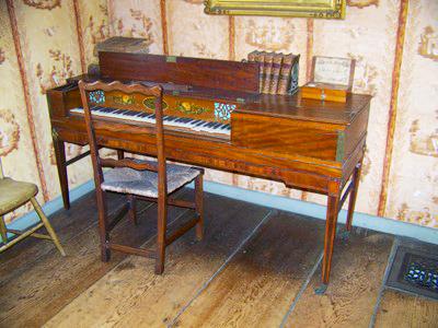 Spinet of Coffin House in Newbury, Massachusetts