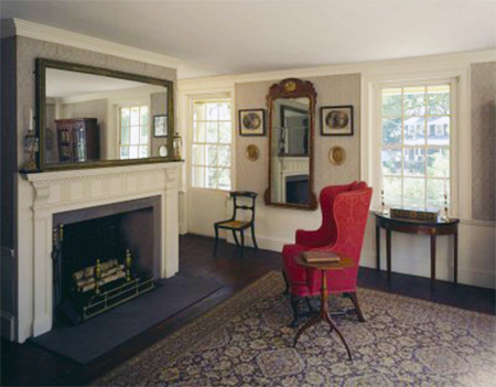 The Sitting Room of Quincy House in Quincy, Massachusetts