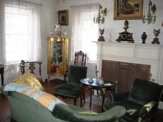 Sitting room of Merwin House in Stockbridge, Massachusetts