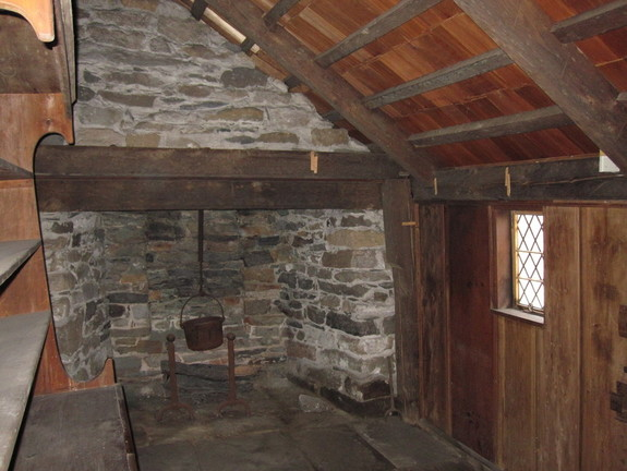 The Kitchen of Clemence-Irons House in Johnston, Rhode Island