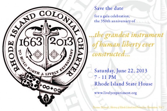 Rhode Island Colonial Charter 350th Anniversary Gala Celebration