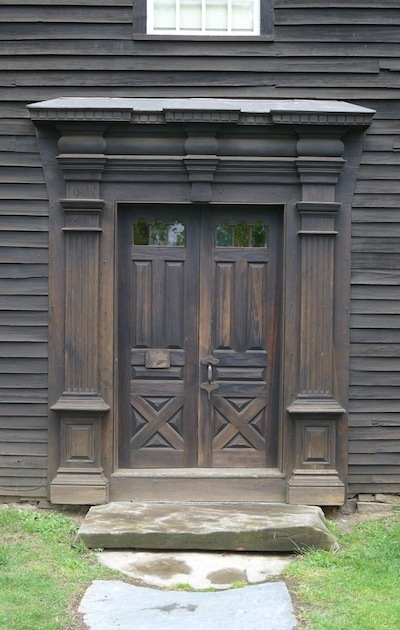 The doors of the Allen House in Historic Deerfield