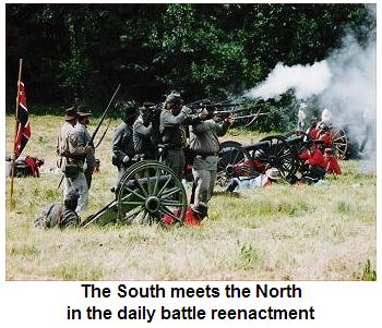 The Civil War battle reenactment