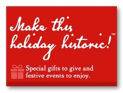 The holiday campaign for historic sites and history organzations