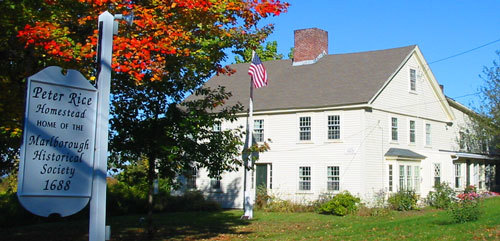 The Peter Rice Homestead, home of the Marlborough Historical Society