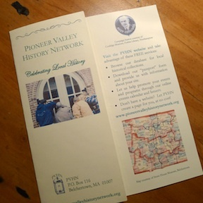 Pioneer Valley History Network 2013 brochure