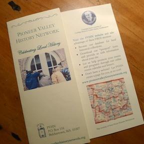 Pioneer Valley History Network 2013 brochure