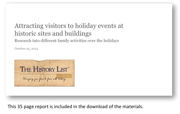 Attracting visitors to holiday events at historic sites and buildings