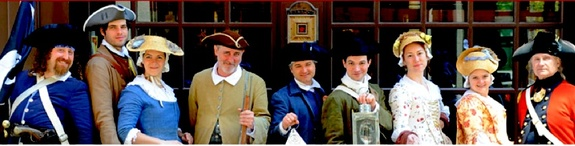 Some of the interpreters from The Freedom Trail Foundation, in period dress