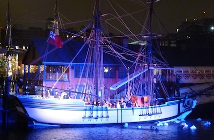 The Boston Tea Party ship during the annual reenactment of the Boston Tea Party