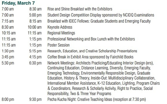 IDEC Annual Conference Schedule