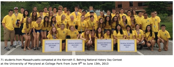 2013 Massachusetts History Day students at Nationals