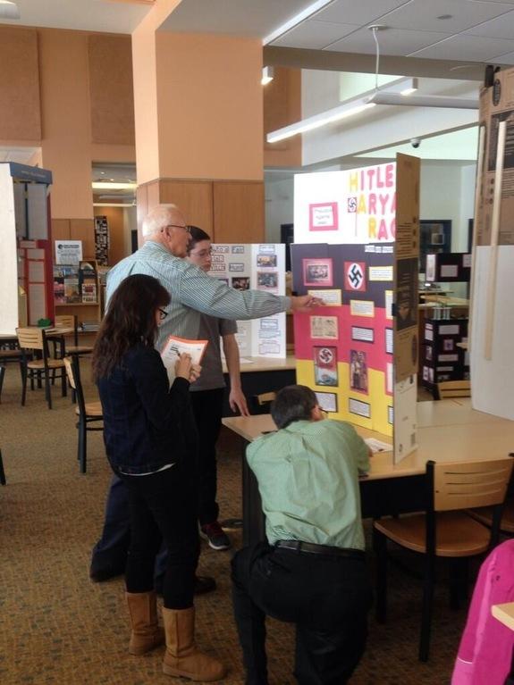 Judgingin progress at the Northeast District contest March 2014.