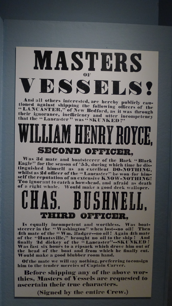 Poster at the New Bedford Whaling Museum