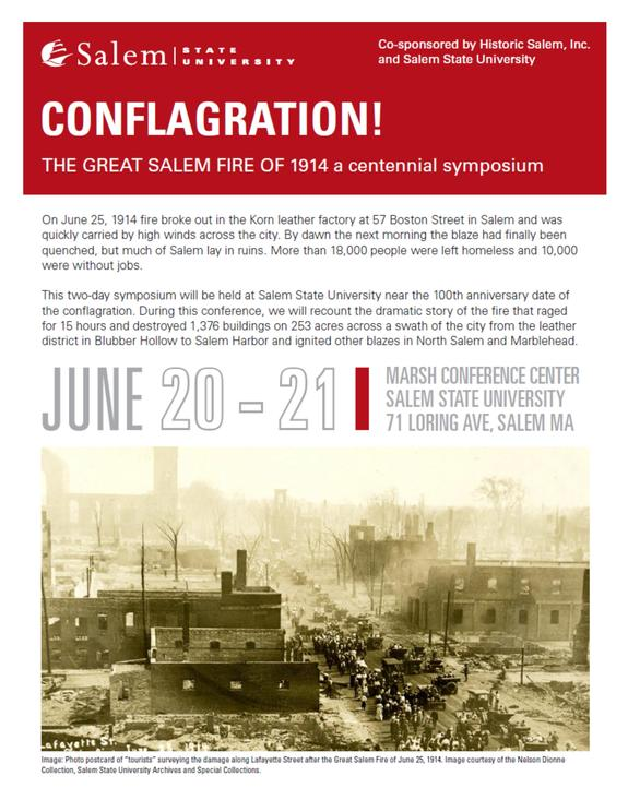 Centennial Symposium Planned to mark Salem Fire of 1914