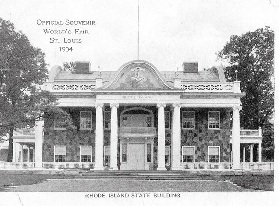 The Rhode Island Building at the 1904 St. Louis World's Fair Modeled After Hearthside in Lincoln, RI
