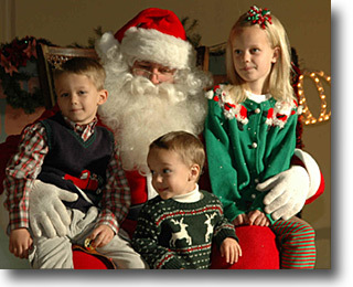 Christmas at Old Fort Concho - Kids with Santa