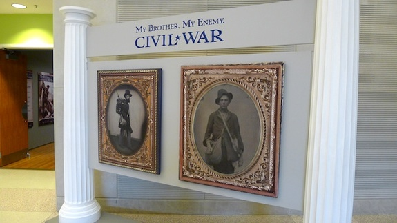 "Entrance to ""Civil War: My Brother, My Enemy,"" at the Kentucky Historical Society"