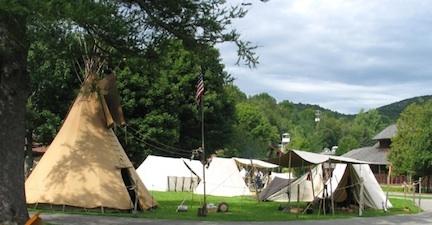 Mountain Men encampment at the Adirondack Museum