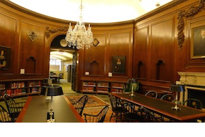 The main reading room at the New England Historic Genealogical Society