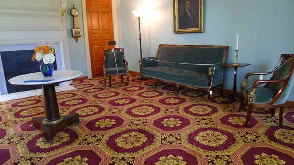 One of the rooms in the Shirley-Eustis House in Roxbury