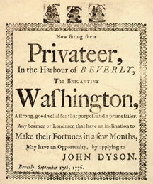 Privateer broadside
