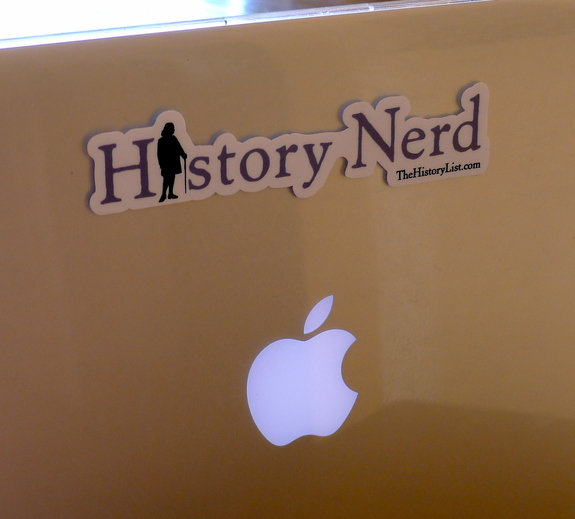 History nerd laptop sticker