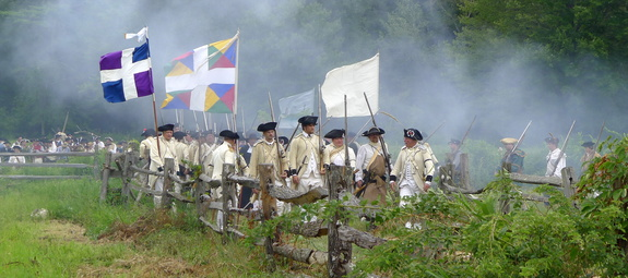 The annual Redcoats & Rebels reenactment at Old Sturbridge Village