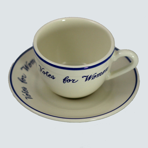 """""""Votes for Women"""" cup and saucer on the 2015 History Gift List"""