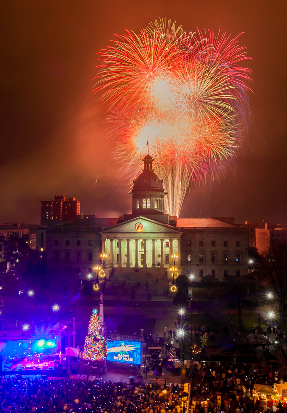 Famously Hot New Year Columbia SC The History List