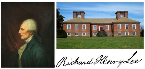 Richard-Henry-lee-home-and-signature