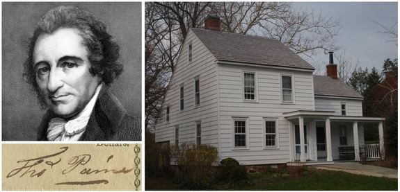 Thomas-Paine-cottage-and-signature