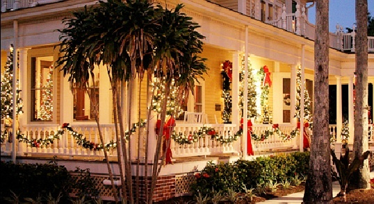 Burroughs Home & Gardens at Christmas - close up