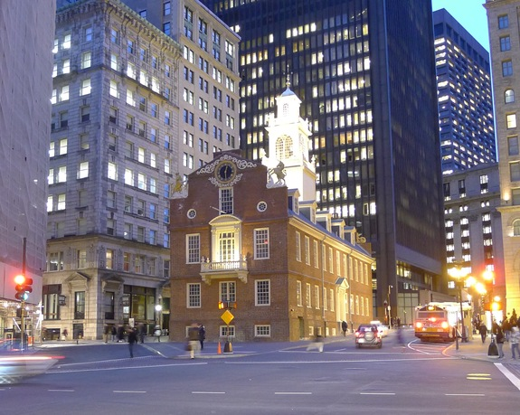 The Old State House in downtown Boston