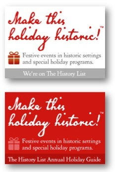 Badges for organizations promoting their history-related holiday events
