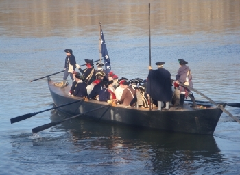 The reenactment of Washington's Christmas Crossing